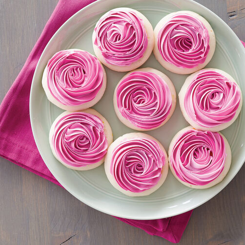 Rosy Rosette Cookies