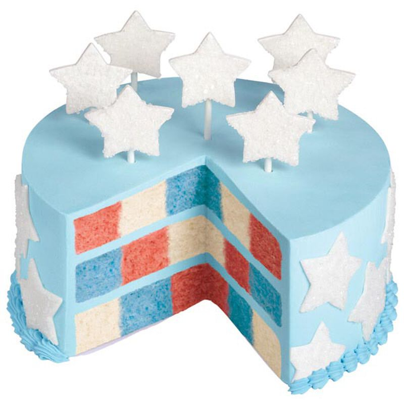 Red, White & Blue Checkerboard Cake image number 0