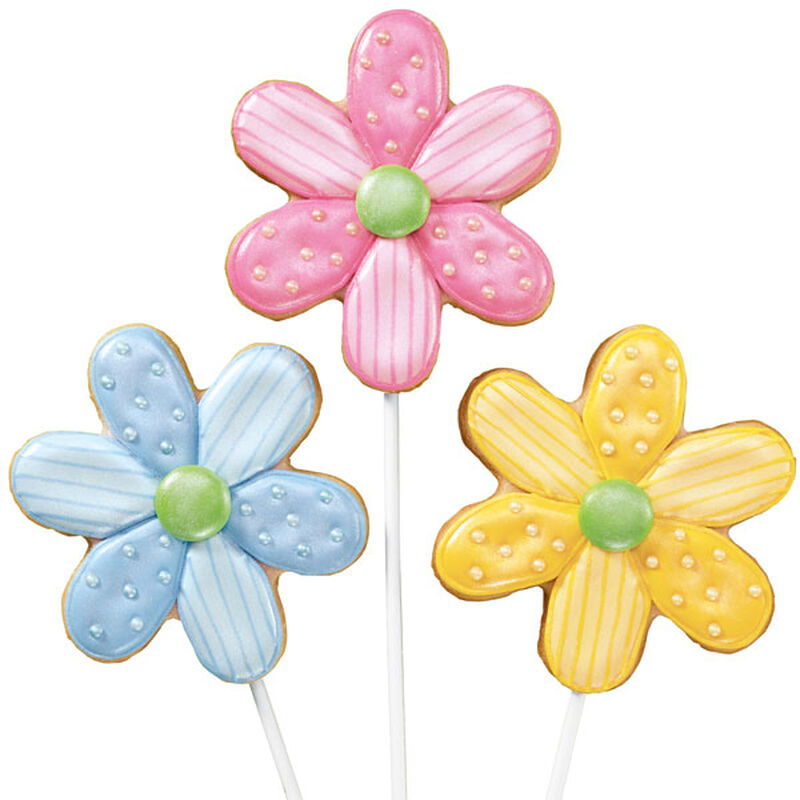 Dotted Daisies Cookie Pops image number 0
