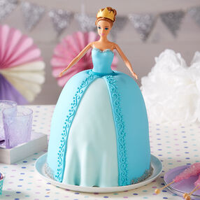 Blue Princess Doll Cake