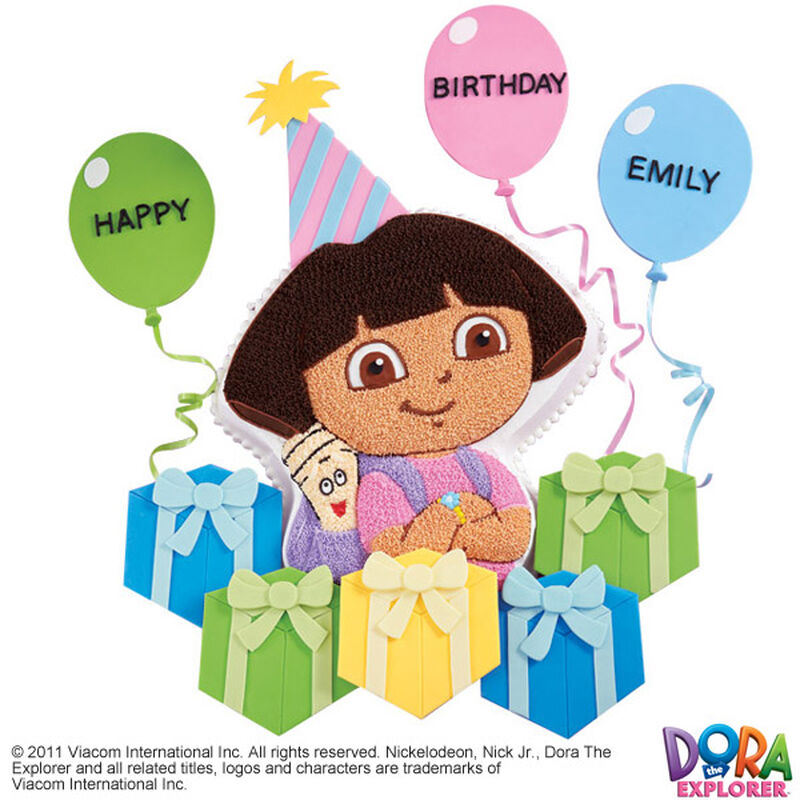 Dora Explores the Gifts Cake & Cupcake image number 0