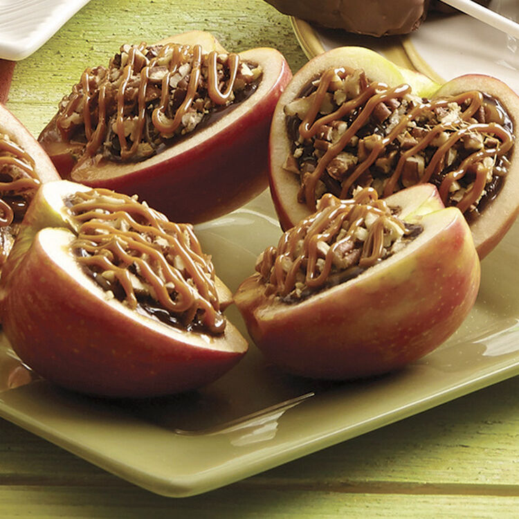 Chocolate Caramel Filled Apples Recipe