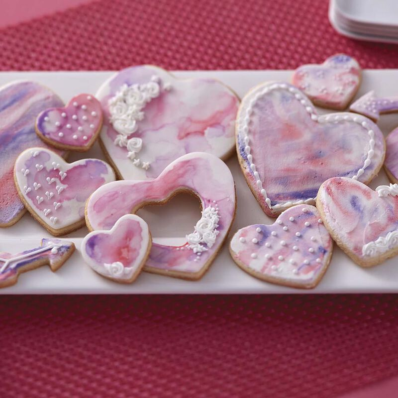 Hearts Abound Watercolor Cookies image number 2