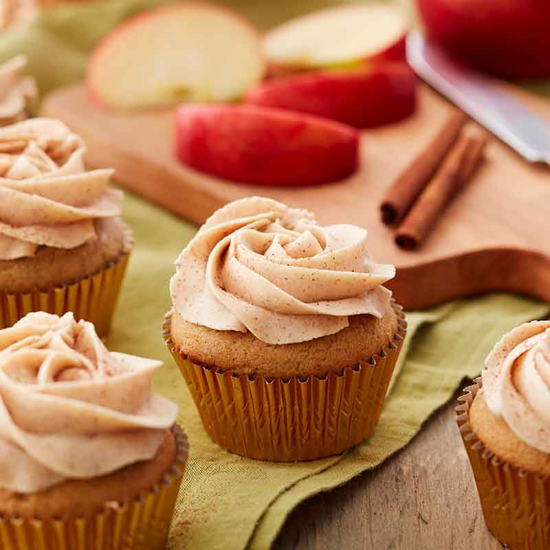 apple pie cupcakes with cinnamon buttercream frosting image number 0