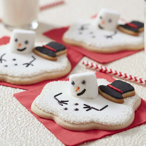 Melting Snowman Cut-Out Cookies