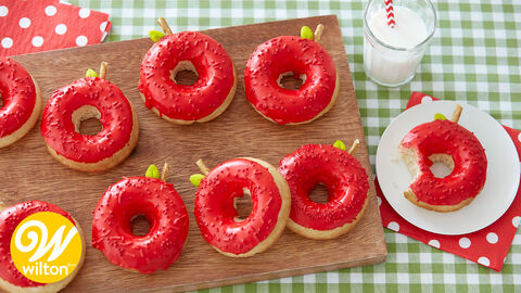 How to Make Apple Decorated Donuts