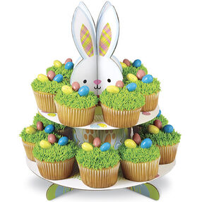 Peeking Bunny Cupcakes Display