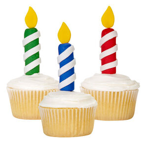 Colorful Birthday Candle Cupcakes