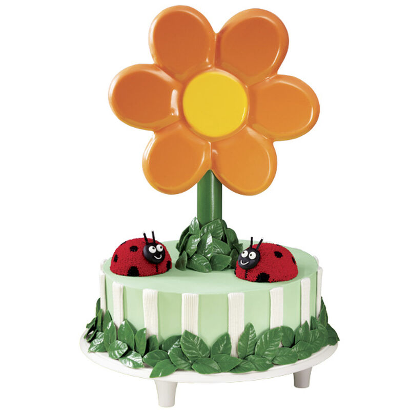 Bloom Where You're Planted Ladybug Cake image number 0