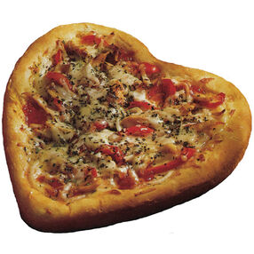 Heart Shaped Pizza Pies
