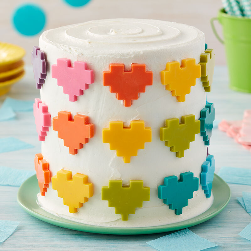 Rosanna Pansino Hearts Full of Color Cake image number 0