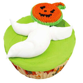 Grinning Ghost Cupcakes