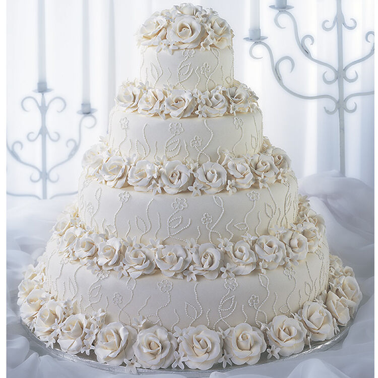 Roses And Lace Romance Cake