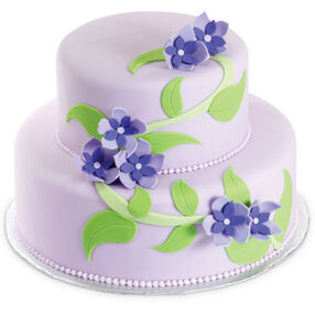 Violets on the Vine Cake