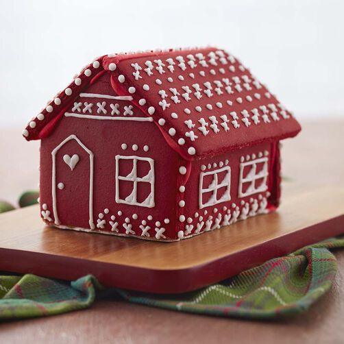 Rosy Red Color Mist Gingerbread House