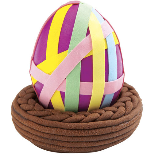 Rainbow-Wrapped Easter Egg