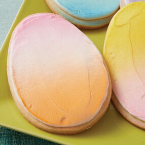 Pastel Easter Egg Cookies
