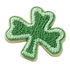 Two-Tone Shamrock Cookie