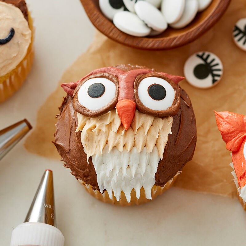 Cute Woodland Creature Cupcakes - Owl Cupcake image number 2