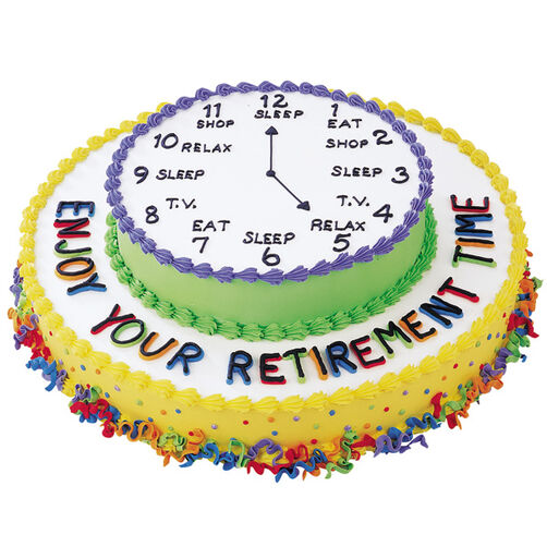 Enjoy Your Retirement Cake