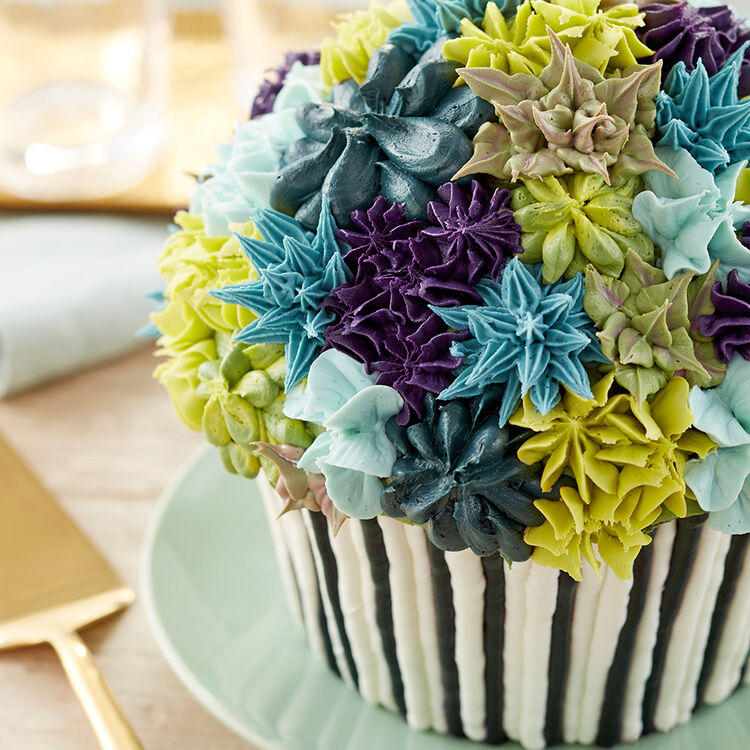 Cool Blooms Giant Cupcake Cake