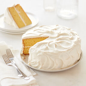Classic Yellow Cake with Buttercream Icing