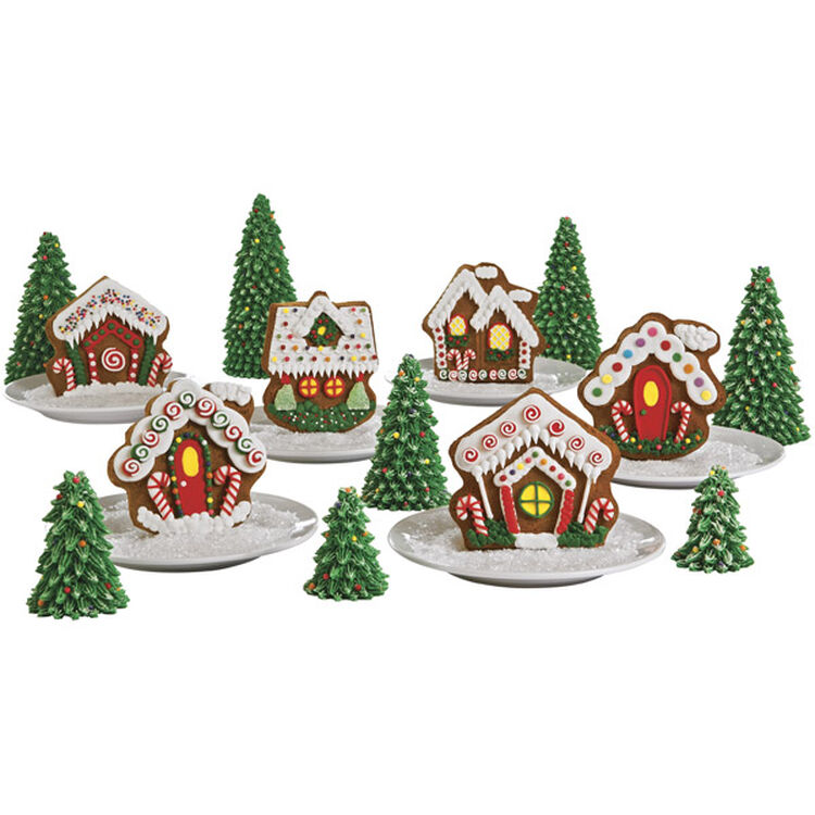 Whimsical Gingerbread House Village