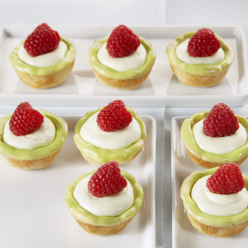 Raspberry Key Lime Tartlets