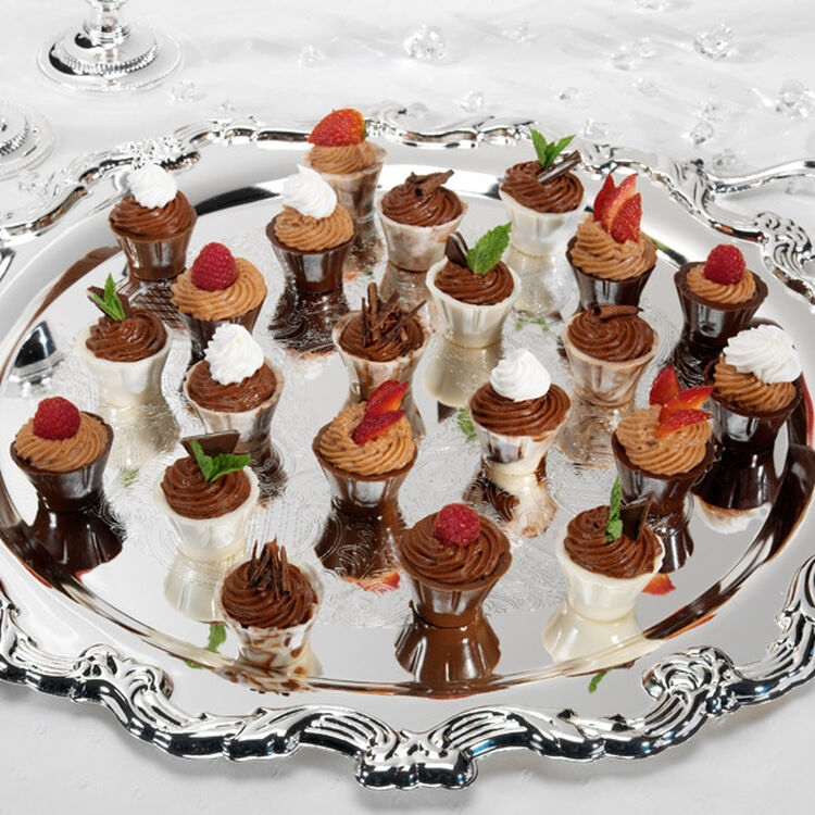 Chocolate Mousse in Chocolate Cordial Cups