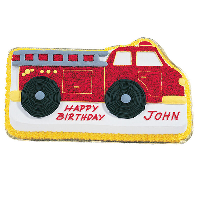 Admirable Fire Truck Cake Fire Truck Birthday Cake Wilton Funny Birthday Cards Online Alyptdamsfinfo
