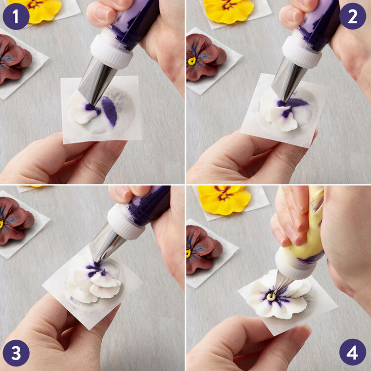 How to Pipe a Buttercream Pansy