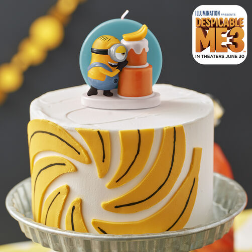 Despicable Me 3 Banana Cake with Minion Candle