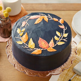Embroidered Leaf Cake