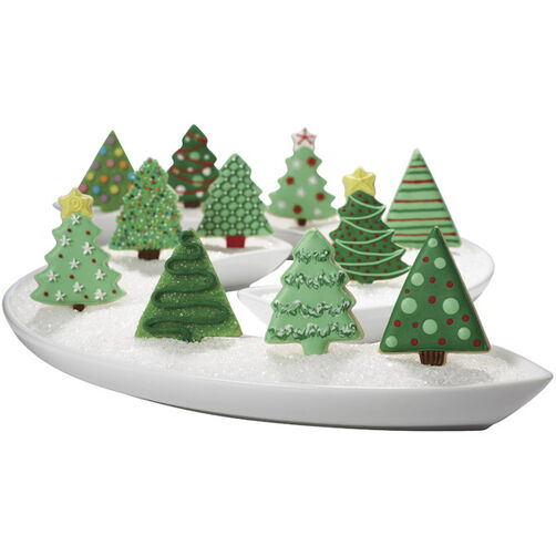 A Festive Forest of Christmas Tree Cookies