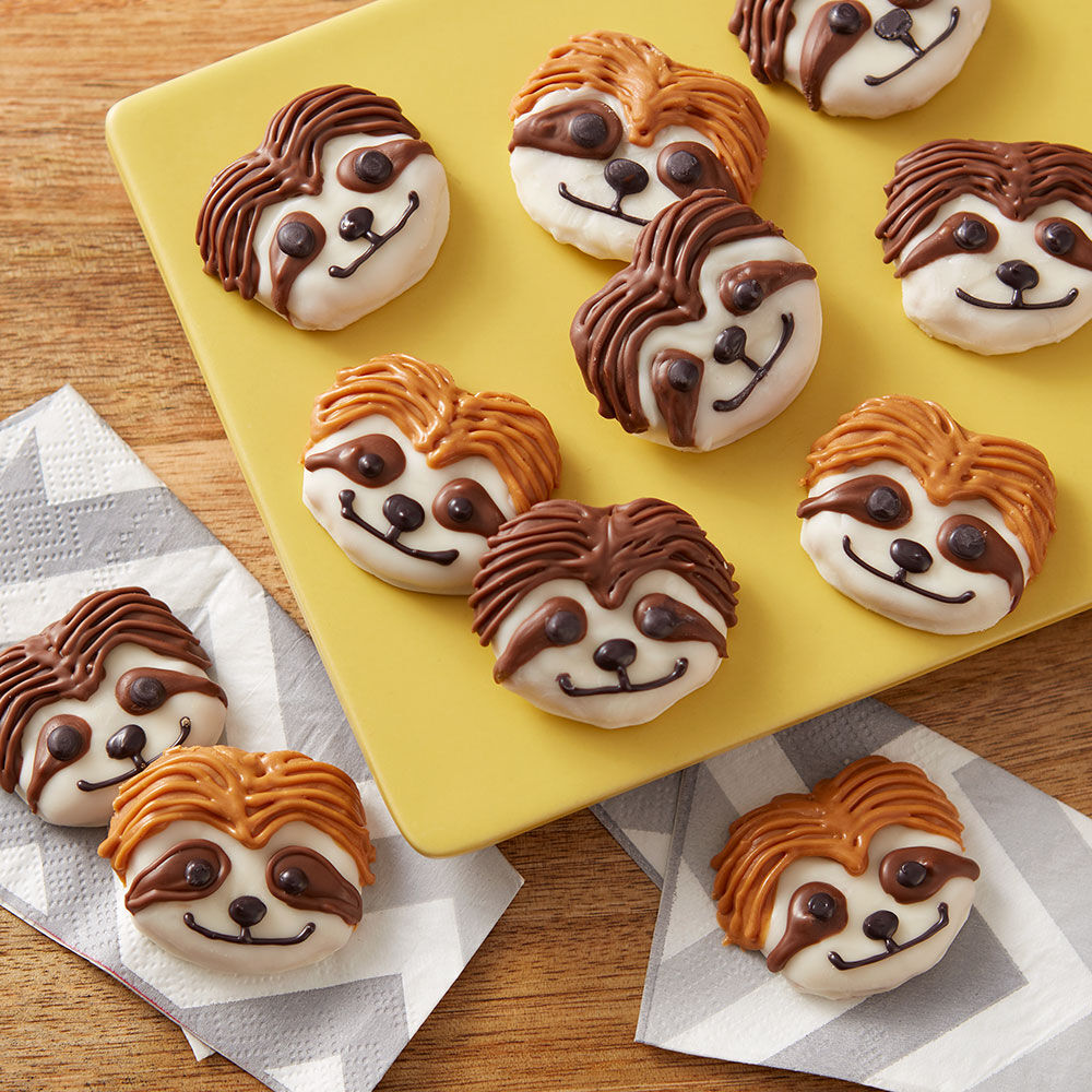 Sensational Sloth Pretzel Snacks Wilton