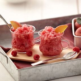 Raspberry Peach Granita Recipe
