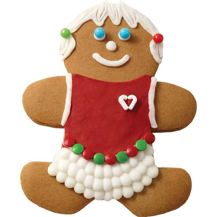 Gingerbread Girl with Red Blouse