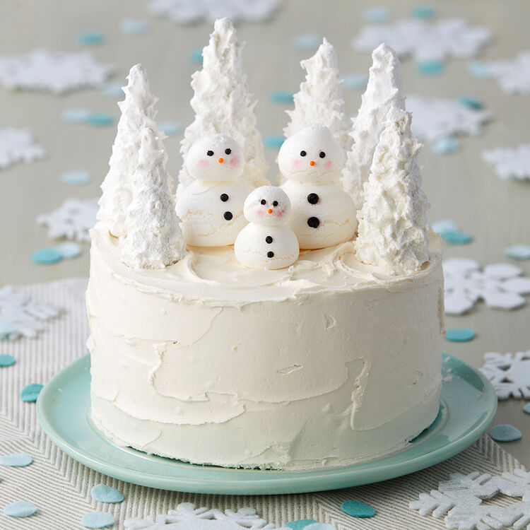 Winter Wonderland Snowman Cake