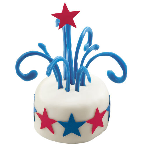 Patriotic Rockets Mini Cakes