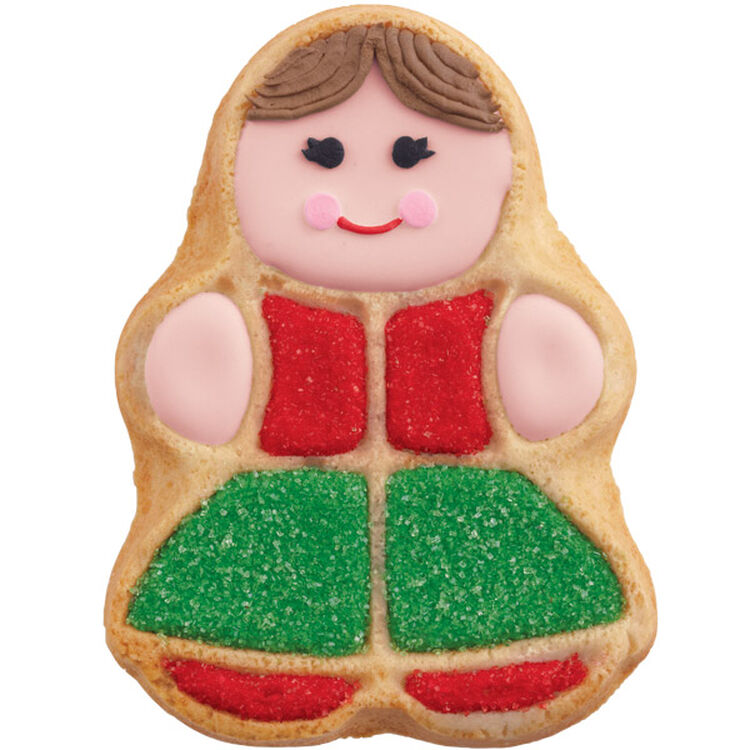 She's Dressed in Holiday Best Cookie