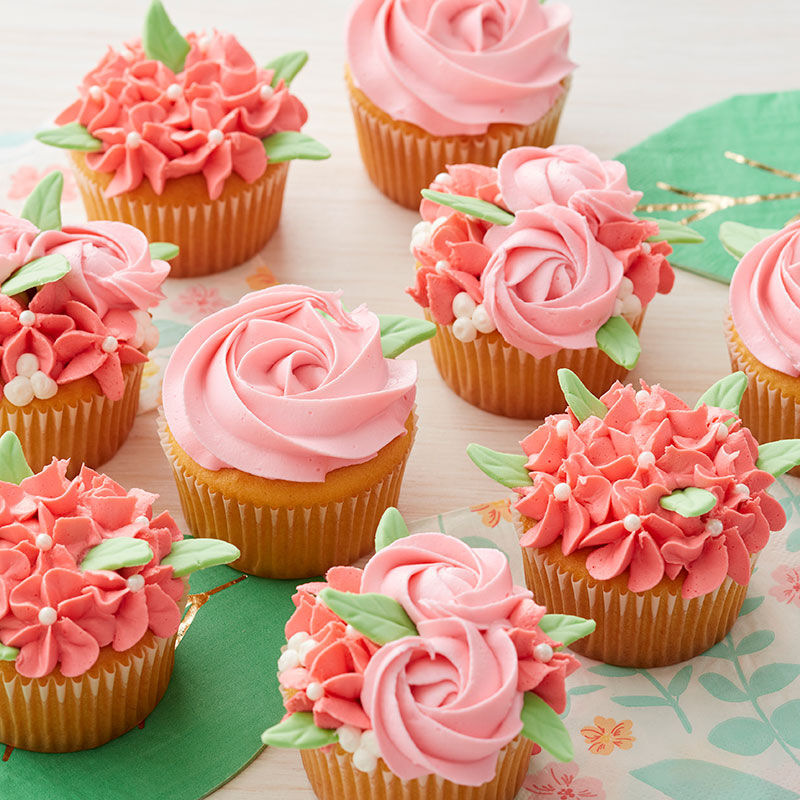 Pink and Coral Spring Cupcakes image number 1