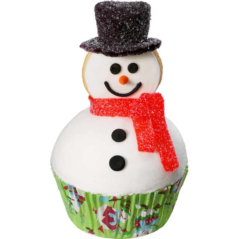 Best-Dressed Snowman Cupcake image number 0