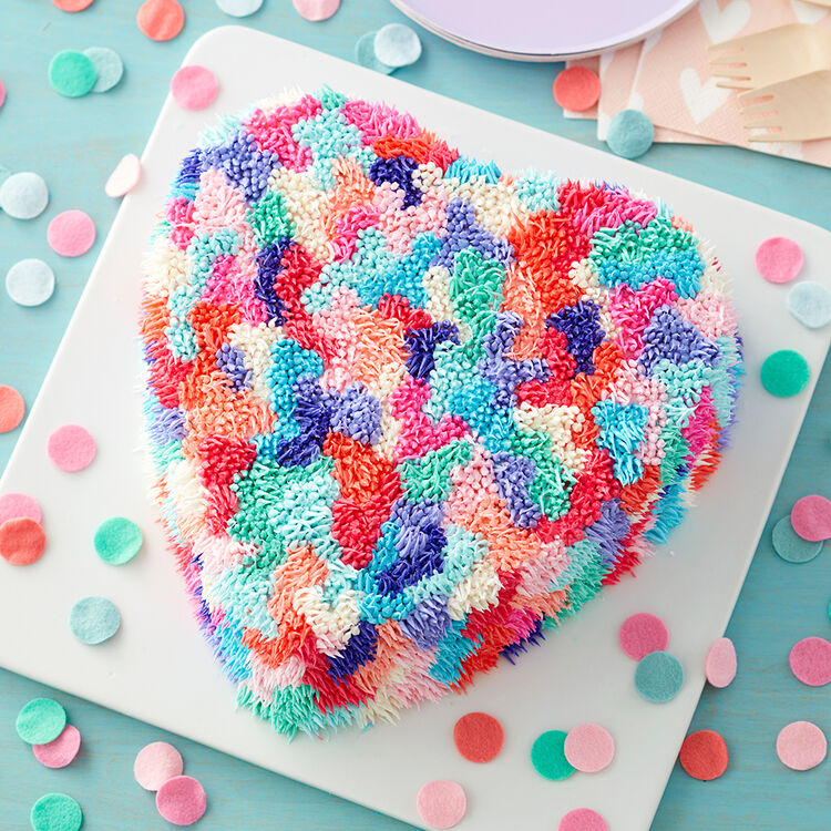 Shaggy Heart Valentine?s Day Cake
