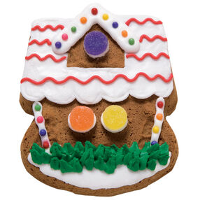 Gabled Gingerbread House Cookie