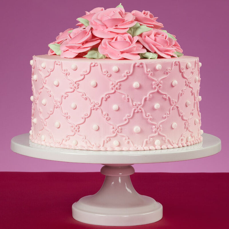 So Sweet Pink Roses Cake image number 0