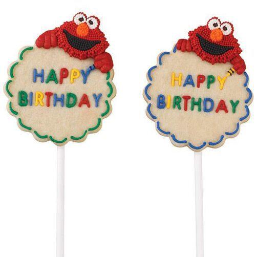 Elmo S Colorful Cookie Pops