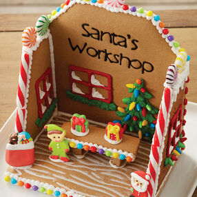 Santa's Workshop Gingerbread Scene #1