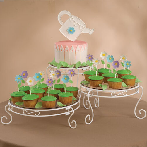 Showers of Flowers Cake and Cupcakes