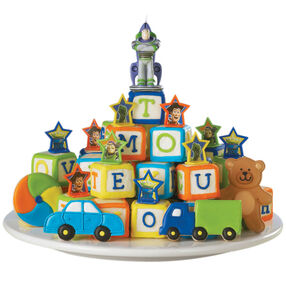 Tower of Toys! Mini Cakes