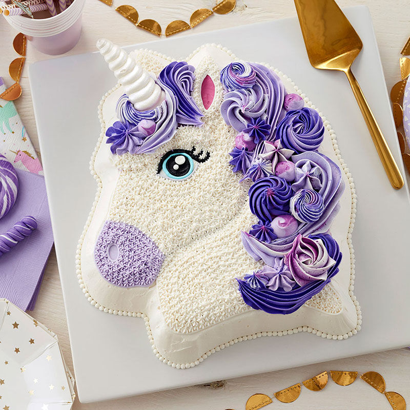 Purple 3D Unicorn Cake image number 0
